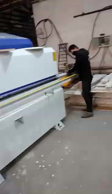 Automatic edge banding machine with function ,gluing,end cutting,fine trimming,scrapping and buffing