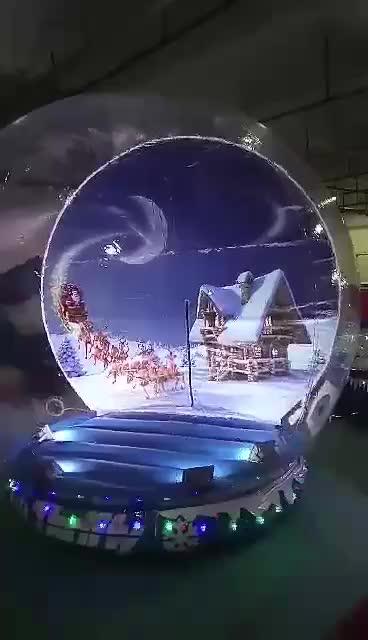 Globo humano da neve da foto inflável gigante do PVC para a venda