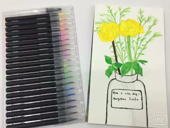 Real brush for art water color pen set
