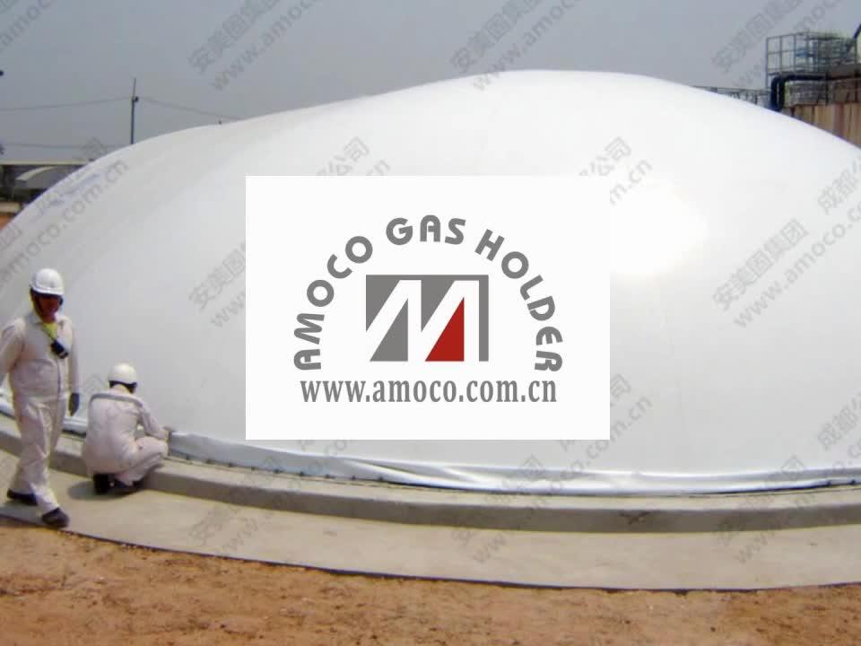 2017 Nuova Forma di Capsula 500m3 biogas holder, biogas sacchetto, biogas palloncino, in Thailandia