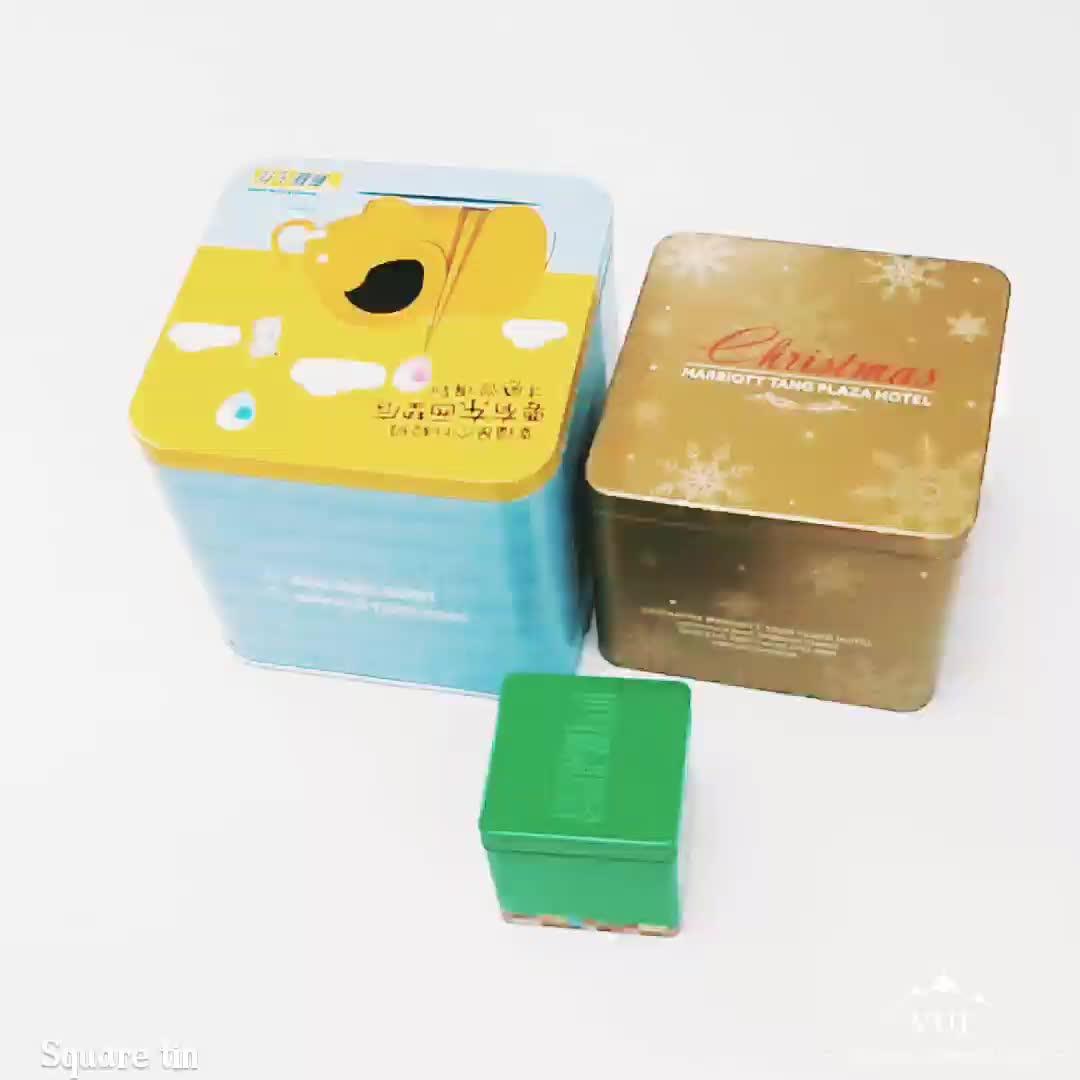 Airtight custom printed tea packaging tin box