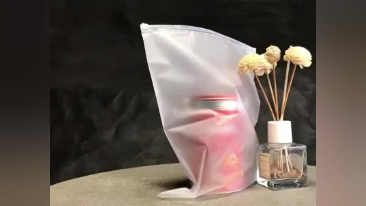 3 Side Seal Plastic Ldpe Clear Doek Kledingstuk Rits Poly Hersluitbare Zak Met Handvat
