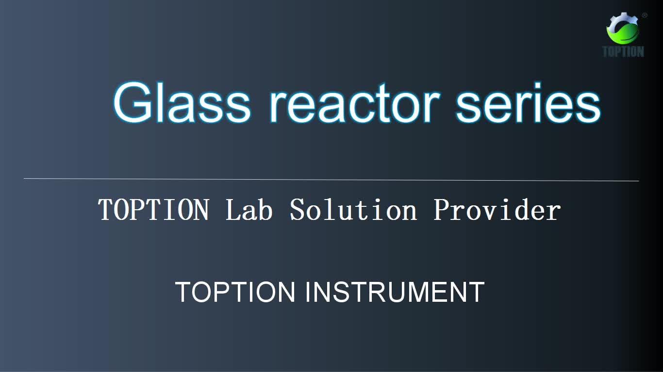 TOPTION Brand jacketed glass biodiesel reactor 10-200L
