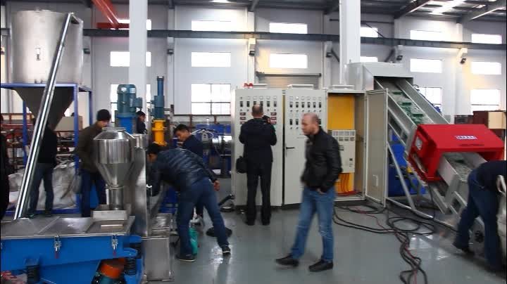 Plastic pelletizing machine/waste recycle granules making machine