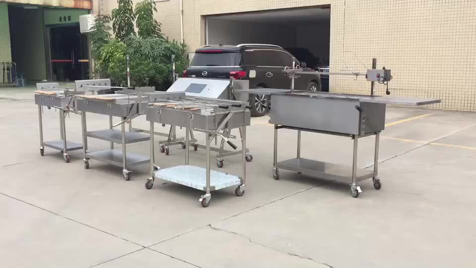 Chinese Fabrikant Rvs Spit Gebraden Cyprus Houtskool Rotisserie Barbecue Grill EB-W02