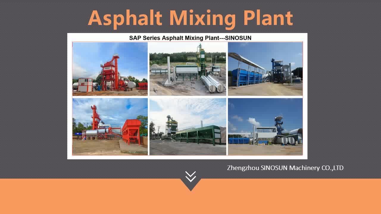China supplier SAP120 asphalt hot mix plant price