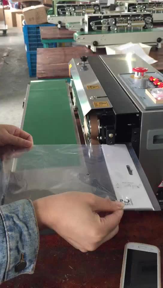 Heat plastic bag automatic continuous sealing machine