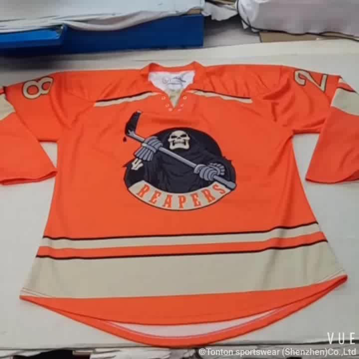 Sublimation machte Hockey T-Shirt Custom billig Eishockey-Jersey
