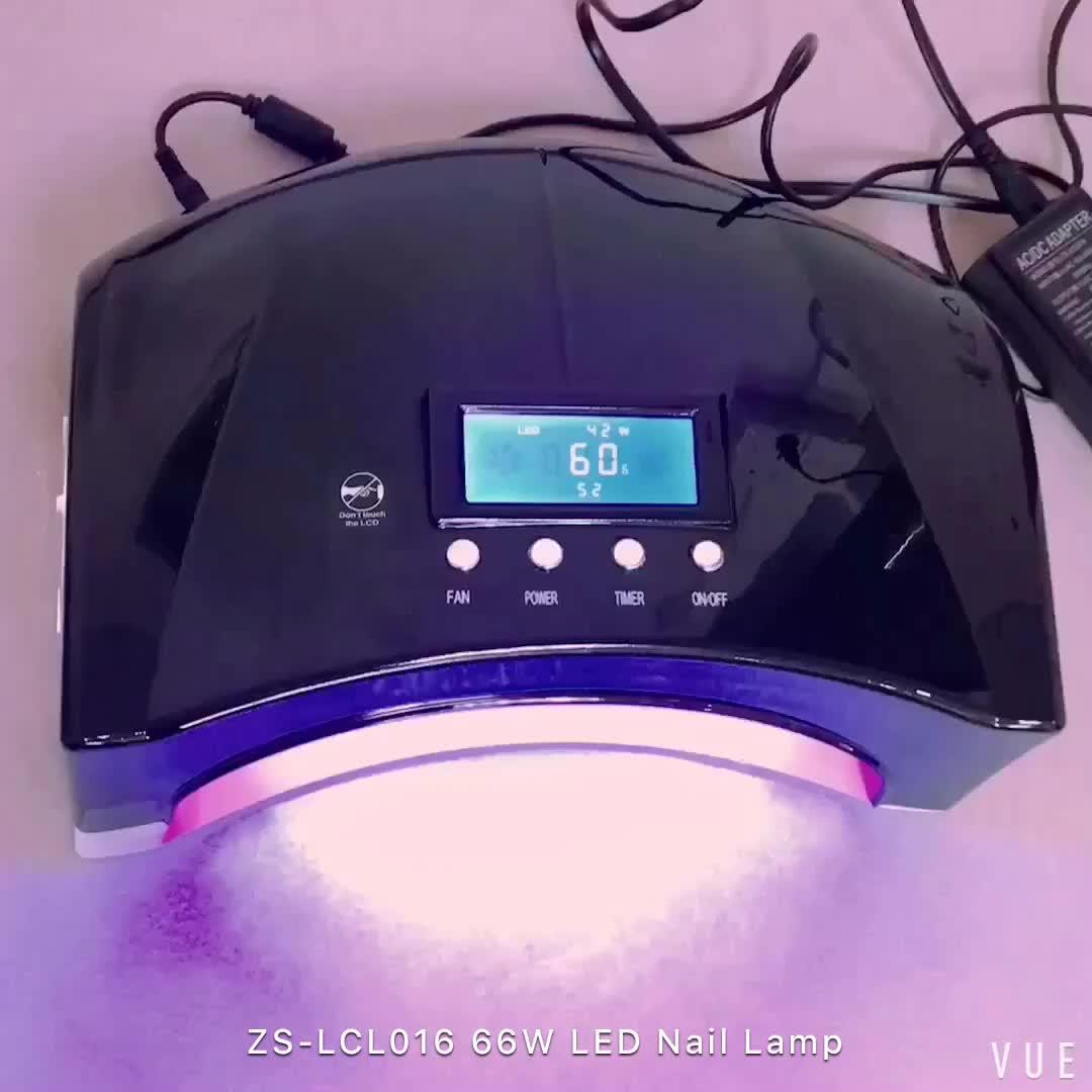 Doppel-Licht-Nageltrockner der hohen Leistung schnell zwei Hand 66W LED + CCFL-UVnagel-Lampe