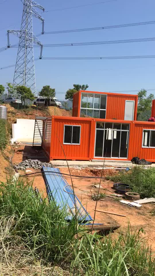 Hot sale low cost luxury container house 40ft villa for Villa container