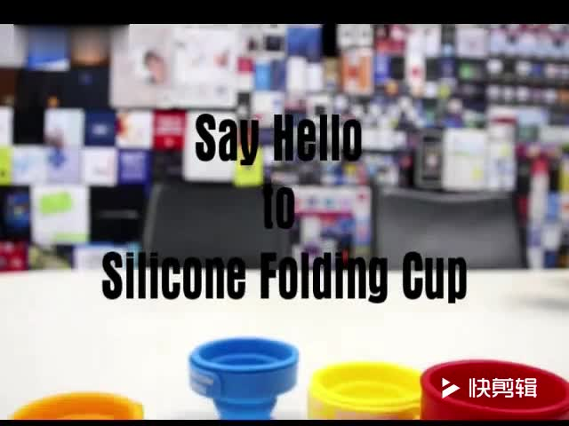 2017 Custom durable food grade collapsible water cup silicone collapsible cup