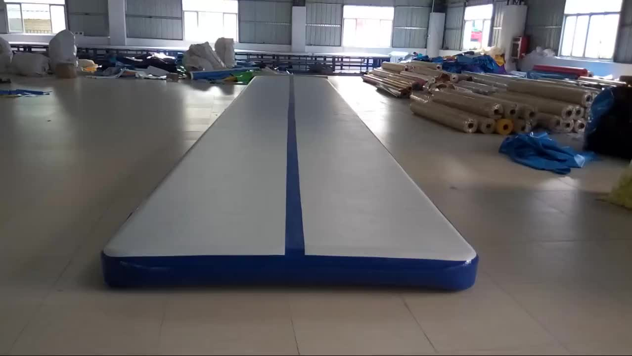 6m Double Wall Fabric(DWF) Inflatable Gym Air Track with factory price