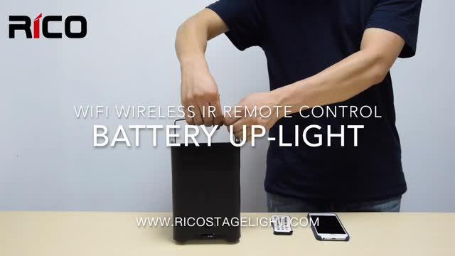 Partito fase di illuminazione a led par DMX Senza Fili di IR di controllo APP 6x18 w led batteria uplight