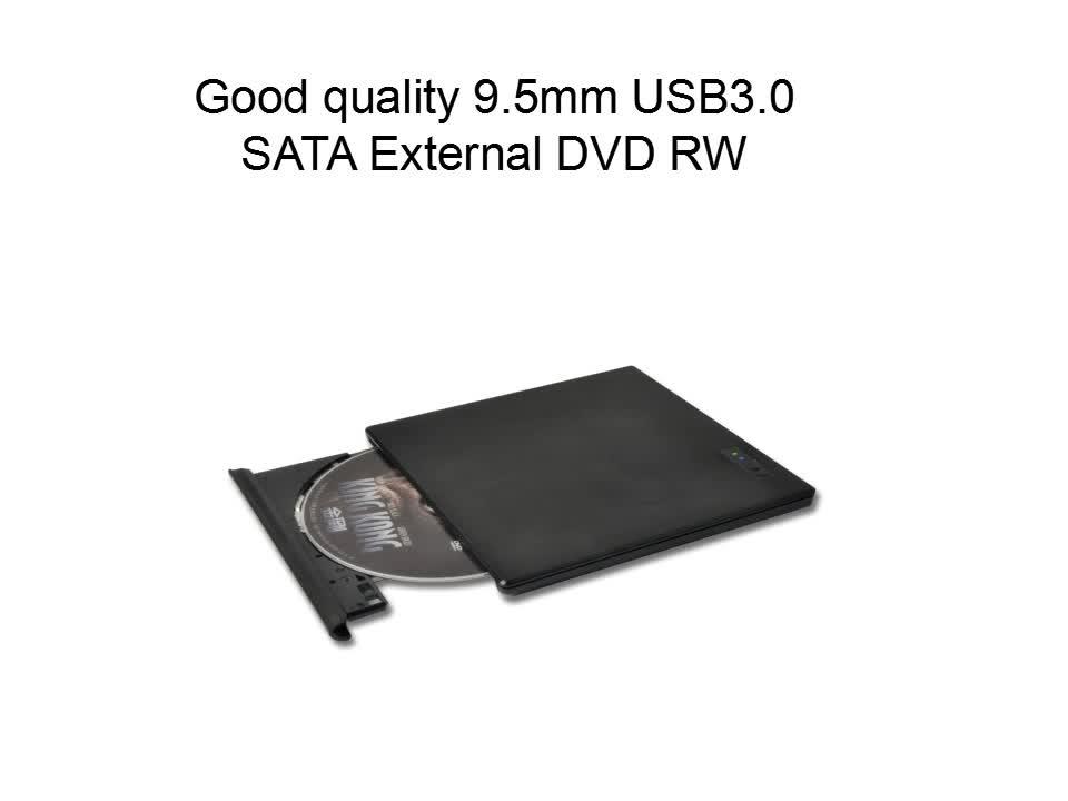 E-Sun 9.5 Mm USB 3.0 Eksternal DVD RW Drive Penulis dengan 2 Lampu LED