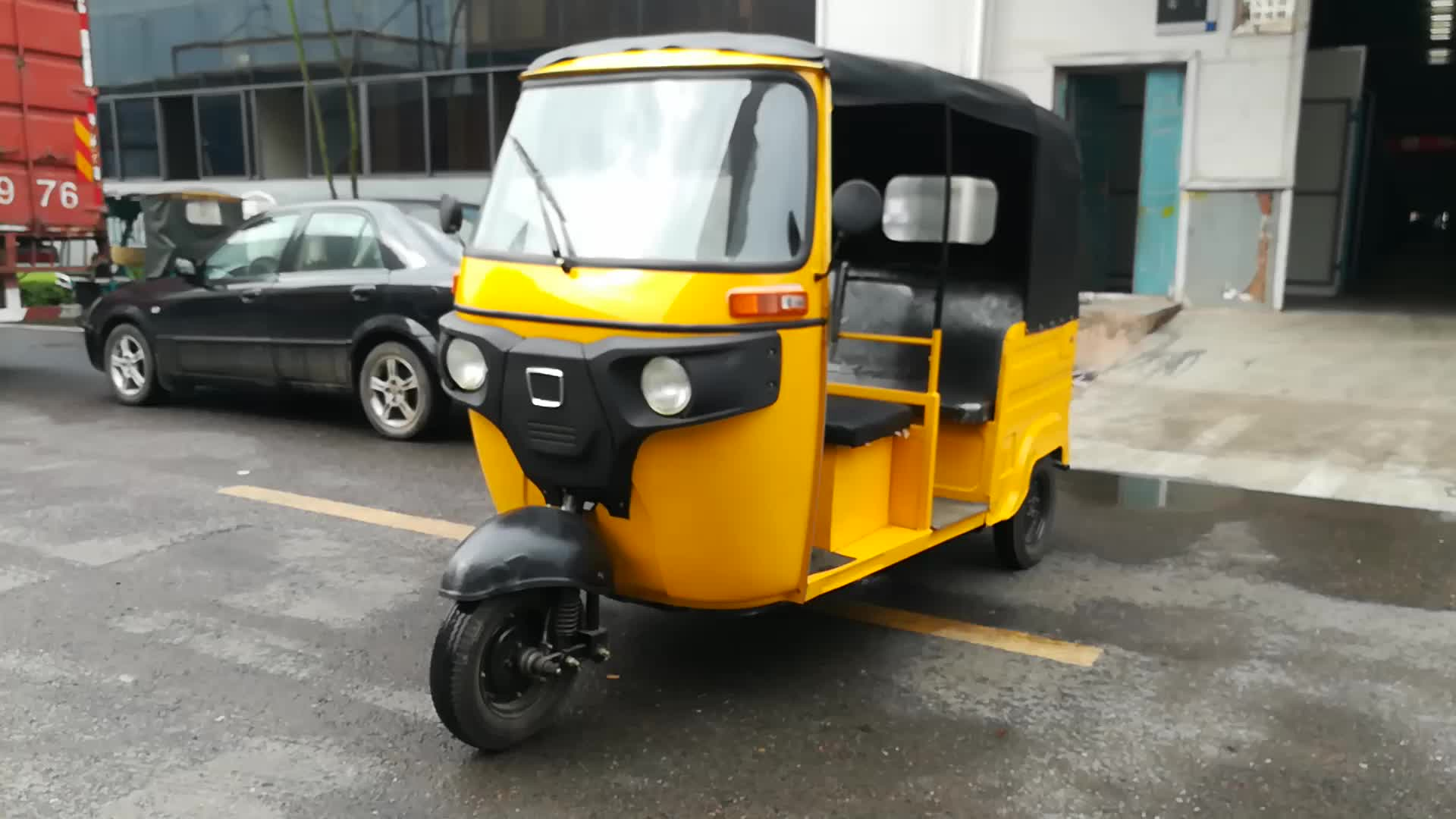 China newest model electric passenger tricycle three wheel for Three wheel motor bike in india