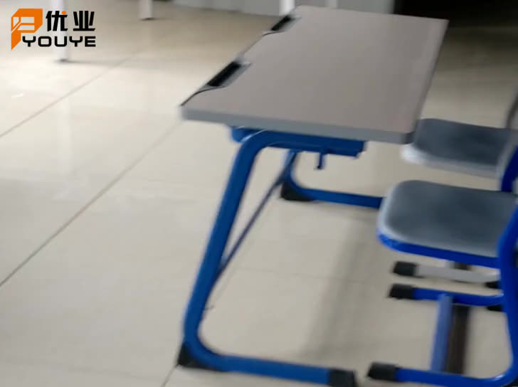Steel Desk Student Two Seat Training chair adn table librarian table and chair