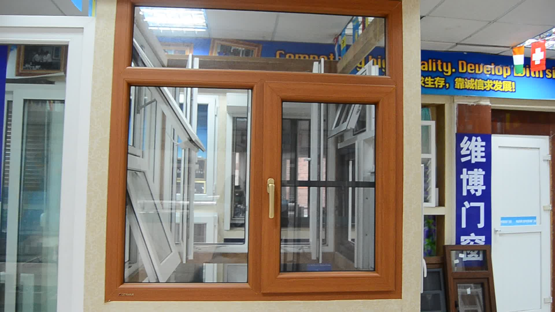 Horizontal Casement Windows : Horizontal opening pattern and pvc frame material french