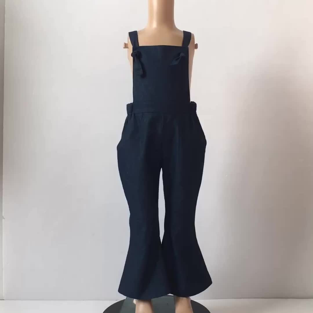 Hot Classical cowboy baby clothes girl trousers baby overall bell bottoms girls fancy girl jeans