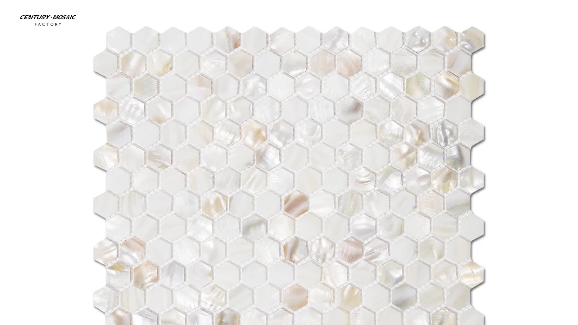 Hexagon White Mother of Pearl Tiles Shell Mosaic