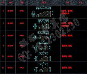 F309--线条CAD图块/多种石材/线条线/区位/收图像描摹aicad门窗图片