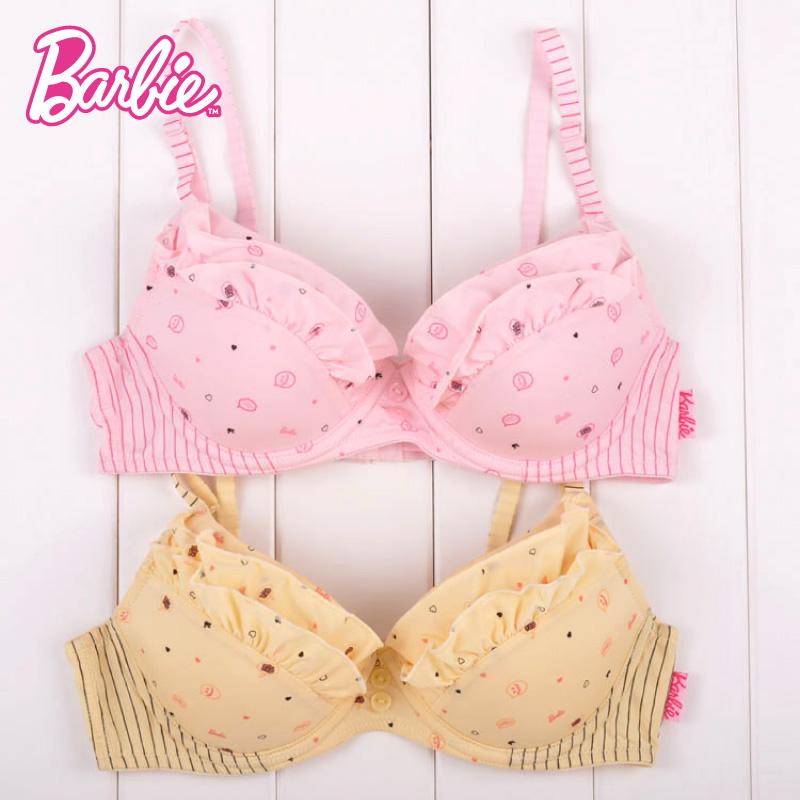 BARBIE/芭比发育期集体女生儿童学生胶圈内衣少女的舞蹈跳简单文胸图片
