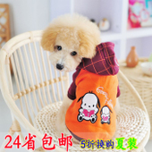 Pet Fun 3 Piece 4 colored short-sleeved little t shirt vest over Xionggui Bin Tai Dibo America pet clothing spring and summer dog clothes