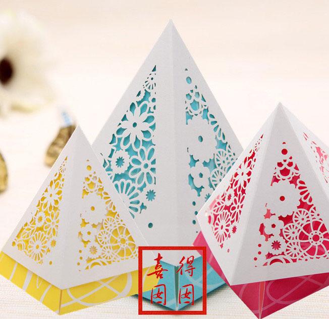 唯思美结婚个性喜糖盒子糖果创意2013欧韩式包装礼盒湖蓝黄粉红色