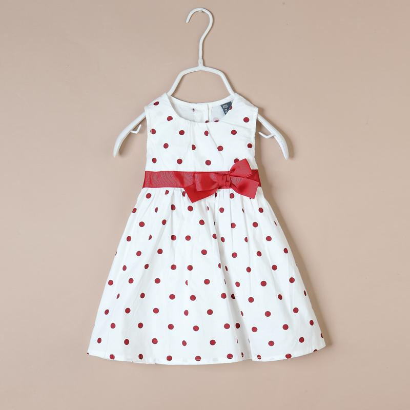 детское платье Z 0009 2013 Другие фасоны юбок Лето Хлопок (95 и выше) В горошек % Корейский