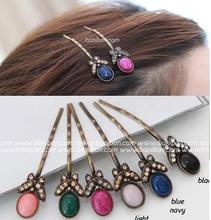 South Korea imported hair quality goods Beaumira bowknot restoring ancient ways is the original stone crystal clip hairpin clip