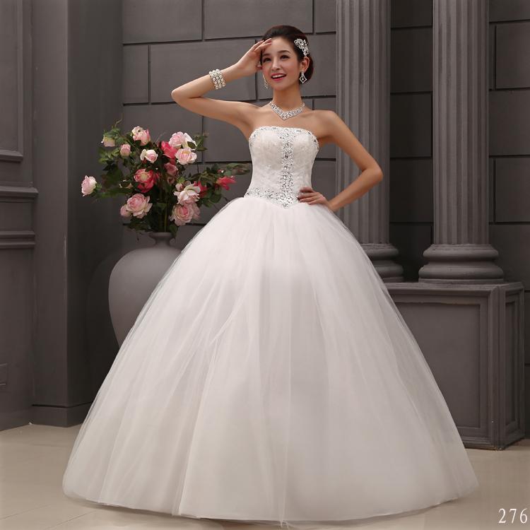 轩新娘 绑带系带婚纱礼服抹胸婚纱钻婚纱礼服苏州hy新款2013婚纱