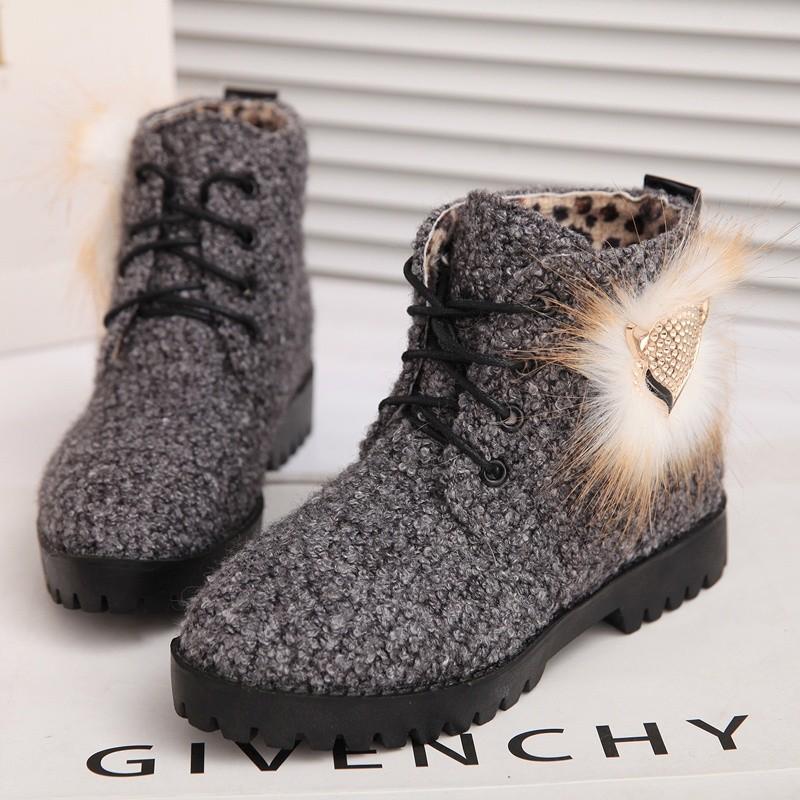 Женские сапоги 39,9 корейский дизайнер обуви с высоким обувь на осень/зима толстые Фокс меха короткие сапоги ugg сапоги обувь