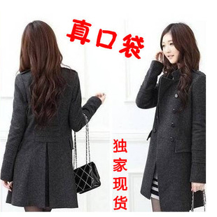 женское пальто Зима 2012 Длинная модель (80 см<длина изделия ≤ 100 см) Длинный рукав Классический рукав