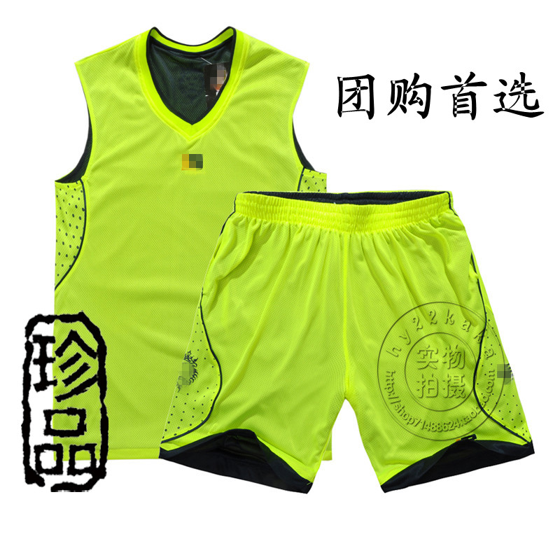 包邮 NBA basketball clothes suit men's shirt, wear breathable mesh on both sides printed lettering custom basketball clothing