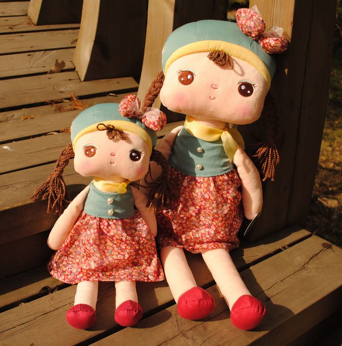 正版metoo咪兔 夏季裙款可爱安吉拉女孩 毛绒玩具公仔