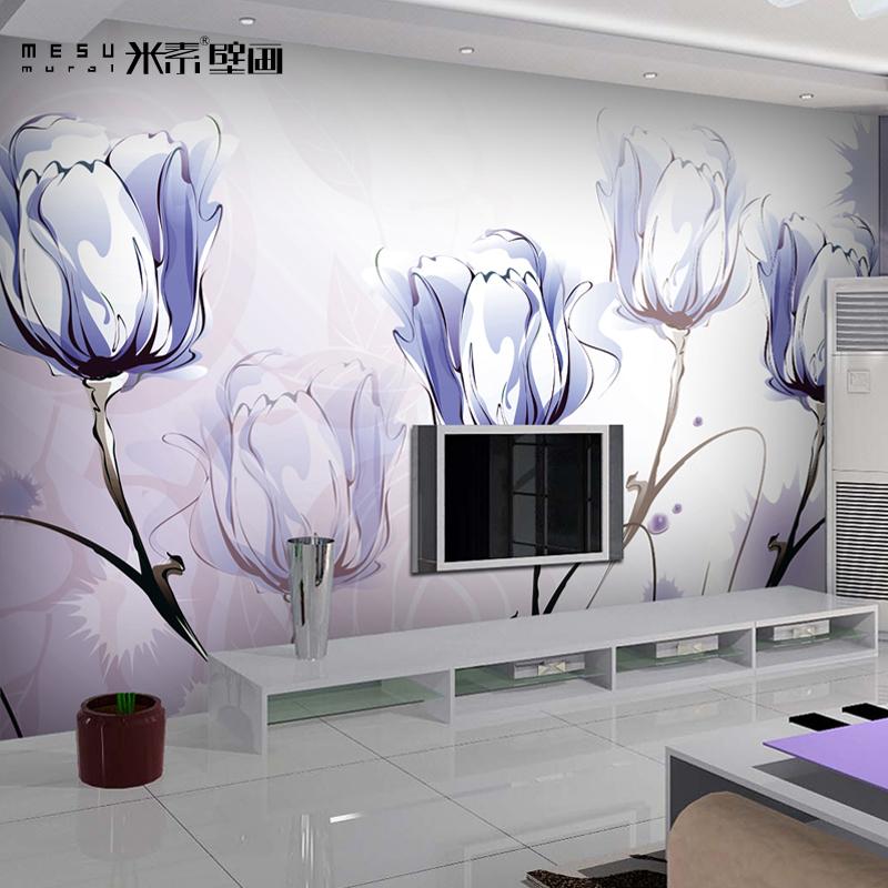 大型壁画 电视墙背景墙壁纸客厅墙纸 简约大花影视墙特价奔放0901图片