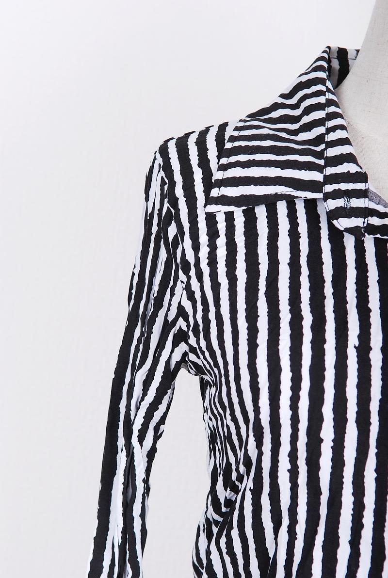 женская рубашка Miss 1101a301 2012 Оригинальный дизайн Длинный рукав В полоску
