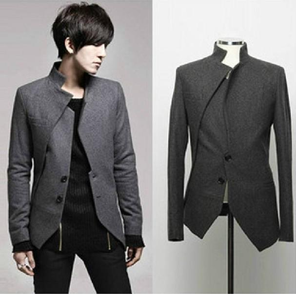 2014 giyim yeni yün kabanlar erkek eğlence ceket kore ince gelgit
