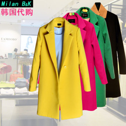 Korean style woolen overcoats woolen suit wool velvet