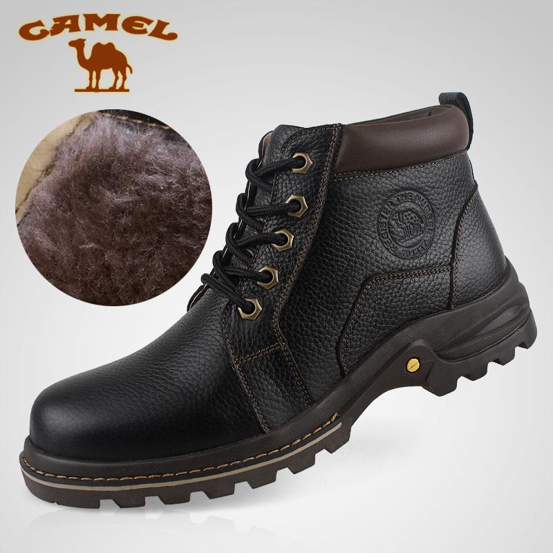 Полуботинки Camel 2307011 454647 Угги Шнурок Верхний слой из натуральной кожи Кожа быка Зернистая кожа Низкое голенище (10-20 см) Круглый носок