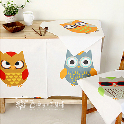 DIY handmade patchwork cotton fabric cotton fabric positioning / cloth tablecloths curtain fabric color owl
