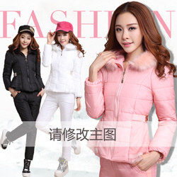 European style Korean style fashion down coat thickening leisure suit