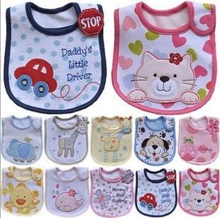 婴儿纯棉围嘴防水饭兜口水巾 防水宝宝围兜口水兜 婴儿用品