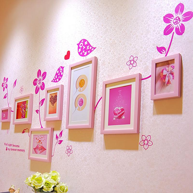 独家新款欧式田园婚房装修卧室客厅相片墙创意组合家居家饰包邮潮