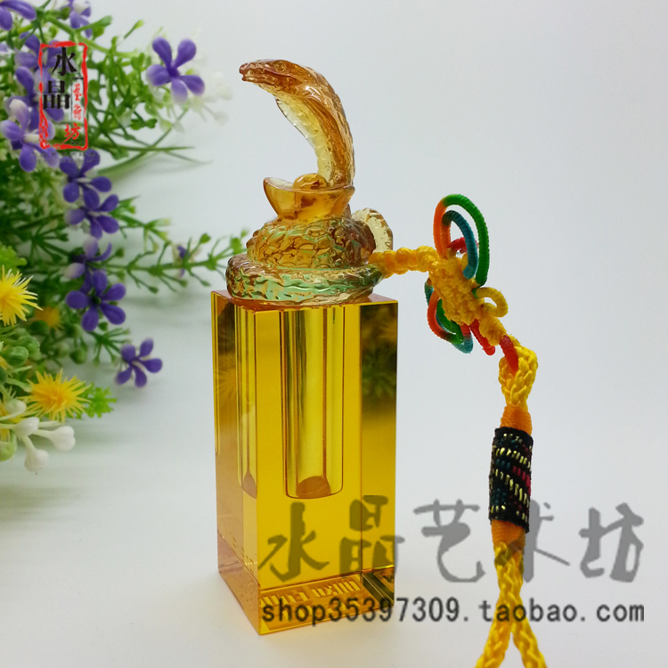 包邮 Crystal Chinese zodiac snake chapters fetal hair Crystal lanugo seal baby lanugo souvenir of the umbilical cord cutting plotter