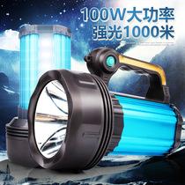 天火LED强光探照灯远程可充电手提灯远射400米户外家用巡逻手电筒