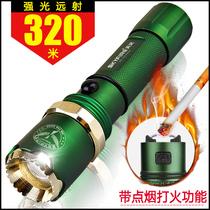 天火 led强光手电筒充电防身家用户外远射迷你军袖珍夜骑变焦超亮