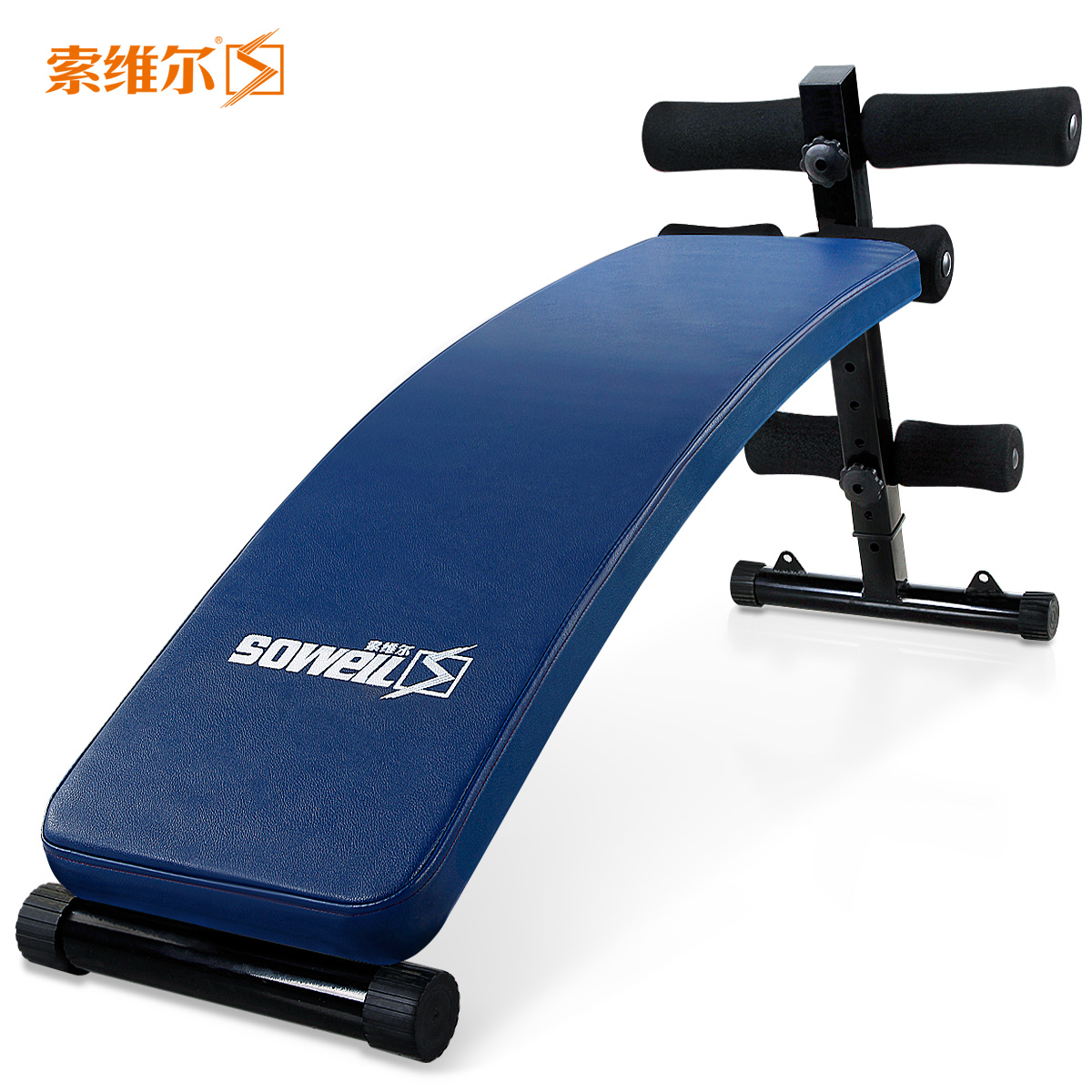 Sauville back panel crunches sit up abdominal fitness equipment home exercise dumbbell benches