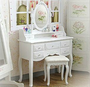 la princesse sept r seaux commode style ikea simple maquillage commode de table en bois blanc. Black Bedroom Furniture Sets. Home Design Ideas