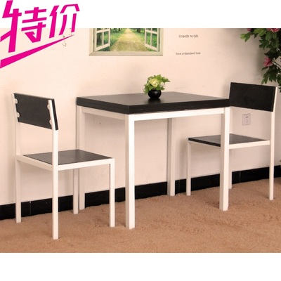 Table and two chairs IKEA dining table small apartment minimalist wood folding table retractable rotary table to eat home