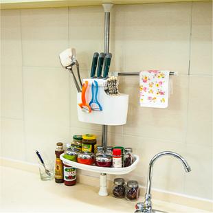 宝优妮 厨房用具 厨房调料瓶置物架 不锈钢创意收纳架层架DQ-1206
